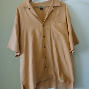 Tommy Bahama Silk Button Down Shirt Large